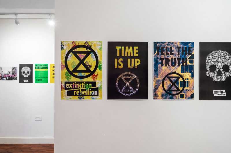 Pop up installation in support of Extinction Rebellion protest